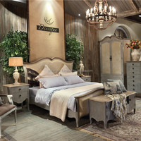 Antique French Country Style Bedroom Sets