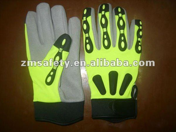 Mechanic Oil Rigger Impact Gloves ZMR668