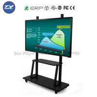 Star Player 55''65''75''80''84'' movable interactive whiteboard smart TV