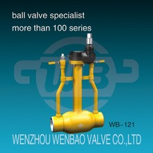 (WB-123) Ball Valve with Weld Ends and Stem Extension