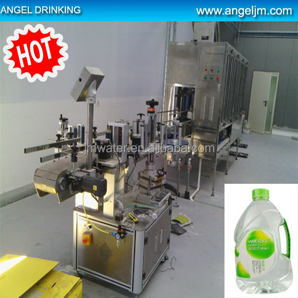 Roll fed labeling machine for 5Liter bottle water production line