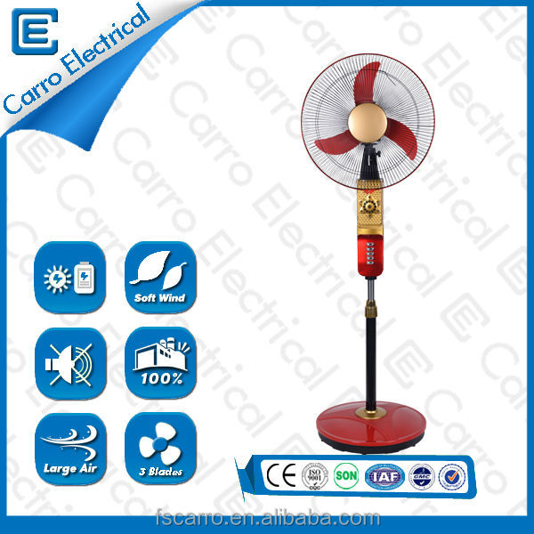 New design hot sale 12V <strong>16</strong> inch rechargeable solar fan CE-12V16H2