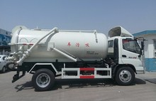 Foton chassis 5000-10000 litres sewage sucker truck, vacuume pump sewage tank