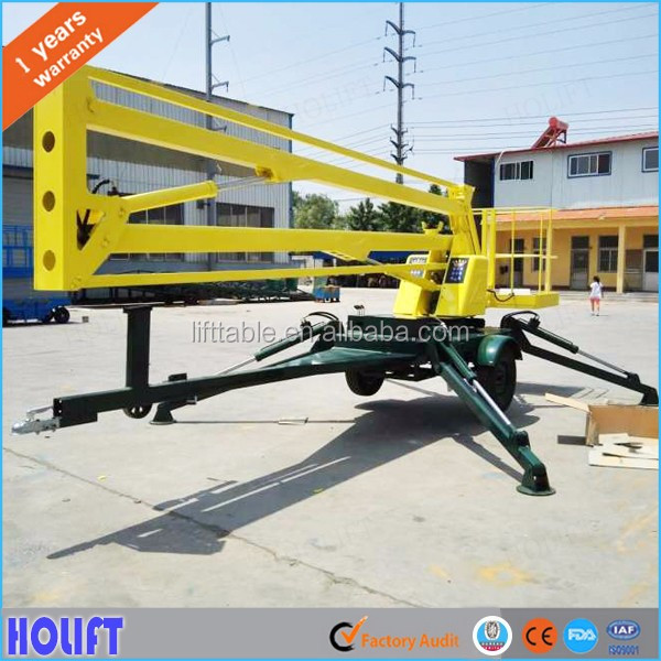 Cheap price 12m articulated hydraulic folding arm lifting platform/boom lift for street light maintenance