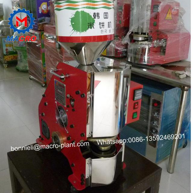 korea snack magic pop crispy popped rice cake/puffed rice cake making machine