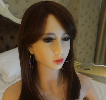 silicone oral sex head for 155 cm 165cm sex doll with bolt to connect with body