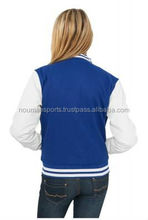 women's white and blue varsity jackets / custom varsity jackets