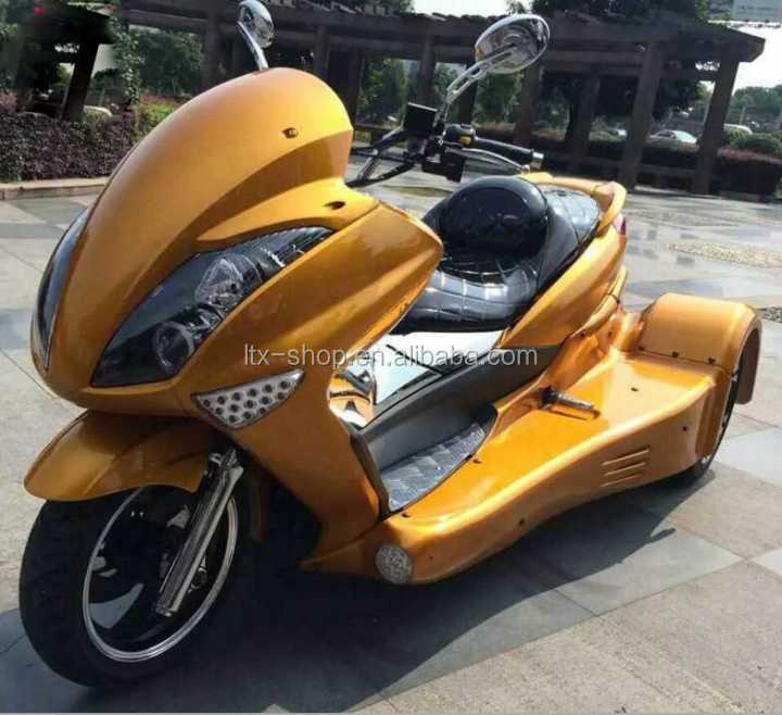 Super Cool 3 Wheel Electric Motorcycle 300cc Petrol/72V 1500W Off-road ATV Chinese Cheap Adult Electric Trike