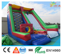 Custom inflatable slide climbing ,Dry Slide Inflatable Big Slide With Climbing Wall For Sale