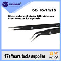 High Quality Mobile Repair Pointed And Curved Esd Stainless Steel Tweezer