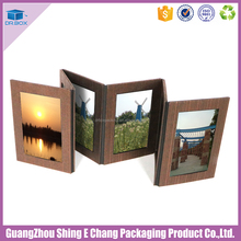 Professional logo customized recyclable rigid paper photo album photo packaging with good quality