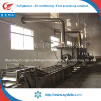 frozen green peas/okra/strawberry/mango fruit & vegetable processing iqf tunnel freezer type iqf machines
