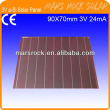 3V 24mA High Light Amorphous Glass Solar Panel