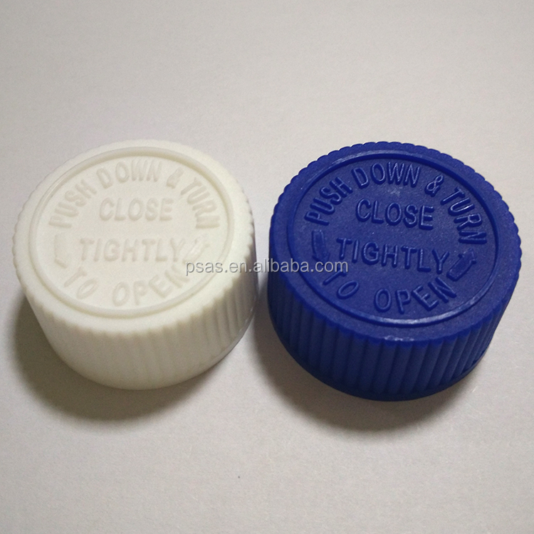 24mm child proof pharma medicine cap, child resistant CRC medicine lids