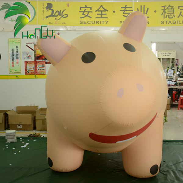 Custom Lovely Cartoon  Giant Inflatable Pig Balloons For Advertising