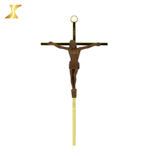 Wall hanging cheap jesus on the mini craft religious cross figurines, charm religious cross figurines for car