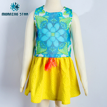 new princess dress printed clothing two piece girls children's suit