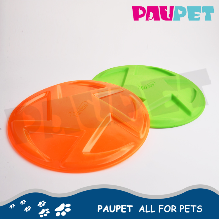 Factory supply custom pets silicone flying frisbee dog training toys
