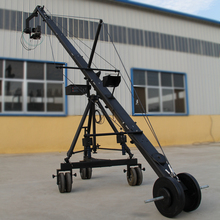 Original 10 meter 130mm triangle camera jimmy jib crane with 2 axis PTZ head