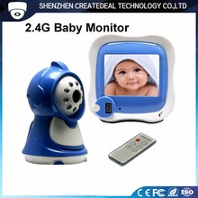 880B 4-channel 2.4ghz wireless 3.5 tft lcd baby video monitor with night vision remote control OSD