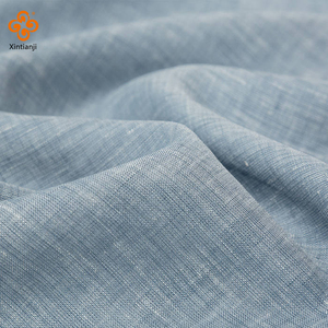 Wholesale italian flax 100 linen fabric for shirt