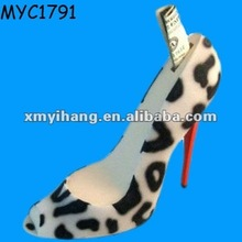 Designer high heel shoe bank