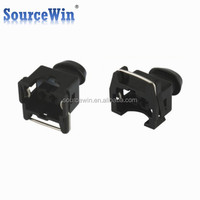 sealed 2 pin automotive female injector ev1 connector with rubber boot