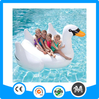 Hot sale big swan floating inflatable swan float