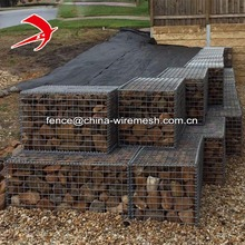 Welded gabion mesh basket retaining wall heavy duty galvanized cage wire
