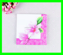 sanitary paper napkin with colour flower