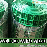 Concrete pvc power coated welded wire sheet metal mesh fabric
