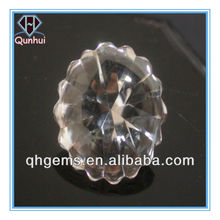 Charming round shaped transparent white cz zircon stone