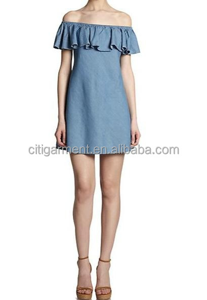 The Ruffle Chambray Dress, fashion new dress