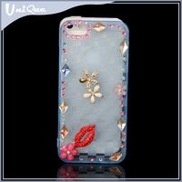 Bling diamond case for iphone 5 / 6,Tpu back case cover for huawei honor 4c