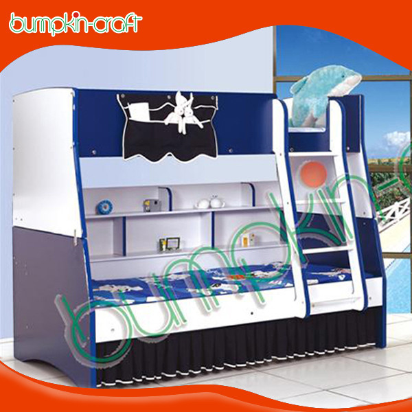 Bumpkincraft MDF wood children bunk bed with drawers