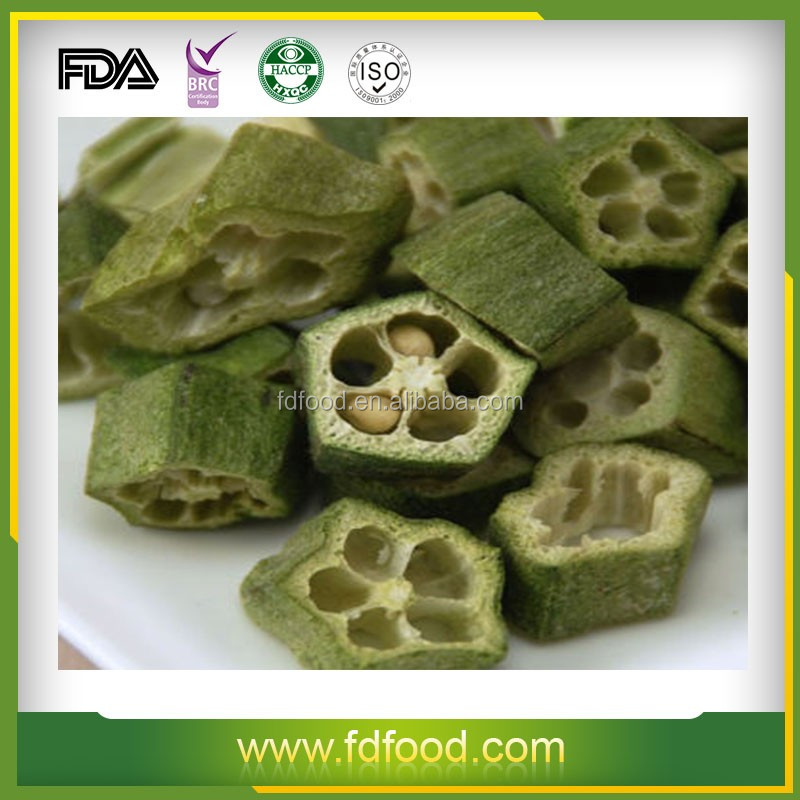 Cooking Delicious Dishes by freeze dried green OKRA vegetable