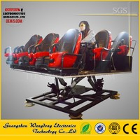 Wangdong 2017 6dof Hydraulic / Electric Motion Platform Truck Mobile 5d Cinema