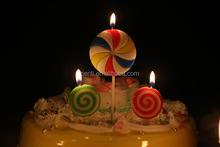 Colourful Lollipop Happy Birthday Candle for Children