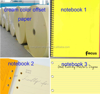 good quality creamy beige dowling offset paper for notebook printing