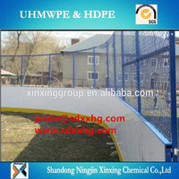 synthetic ice arena / hockey fence / roller hockey sports court