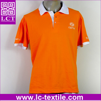 supply high quality color combination design 200gsm combed cotton soccer sport polo shirt with custom logo embroidered(LCTT0295)