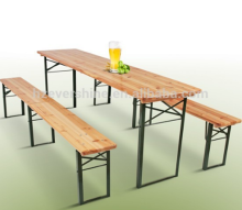 Foldable Wooden Outdoor Furniture Beer Table and Bench Sets for Garden