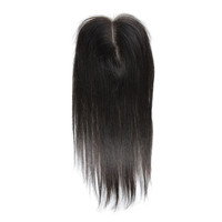 Wholesale human hair straight lace front closure Brazilian virgin hair 4*4 lace top closure straight toupee 18 inch
