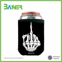 Promotional Logo printed cheap can beer cooler neoprene drink holder