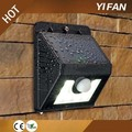 8LED intelligent Mode Super Bright motion sensor led solar garden light wireless led wall lamp