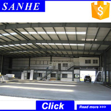 light frame industrial steel prefab warehouse for factory
