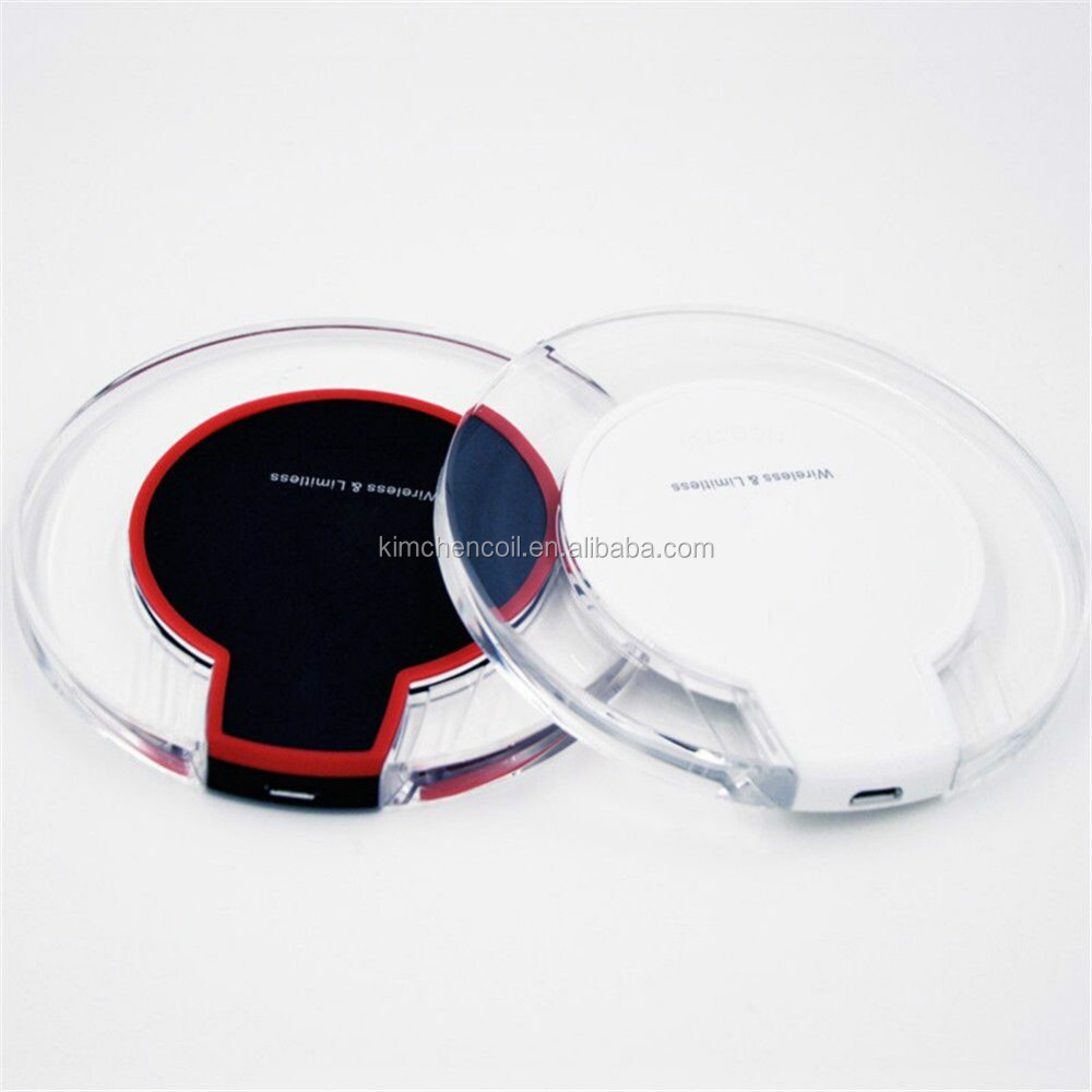 Appearance fashion transparent led light wireless phone charger for charging all cellphone
