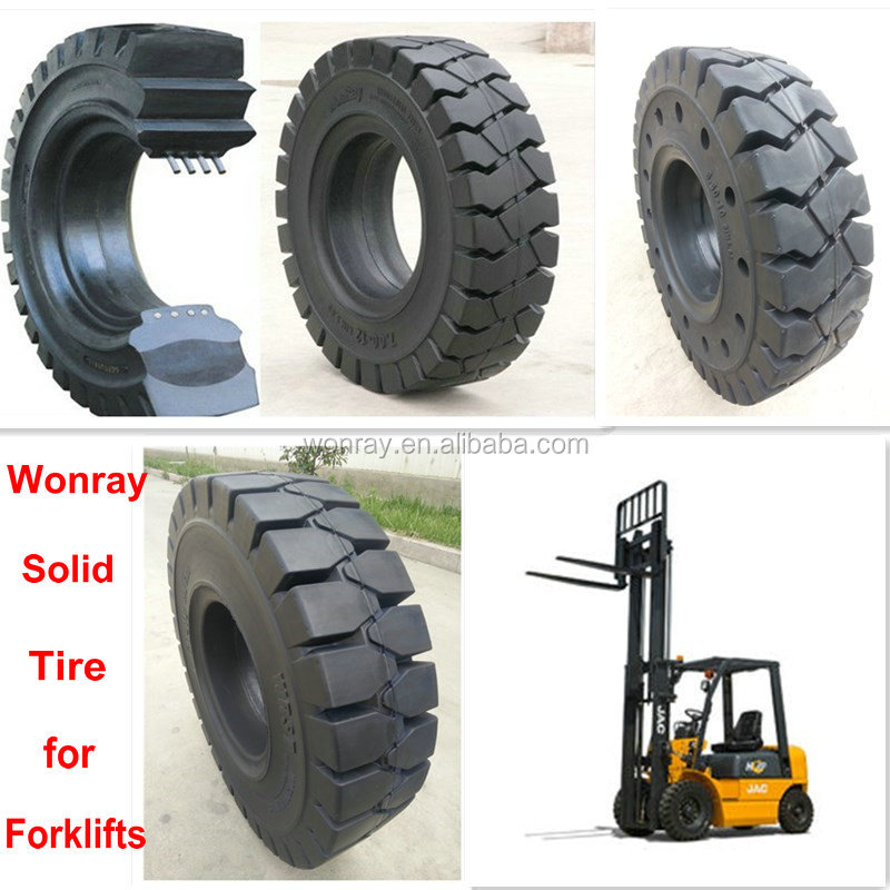 high quality click forklift poly solid tires linde forklifts tyre 700-12 5.00-8 in electronic equipment factory