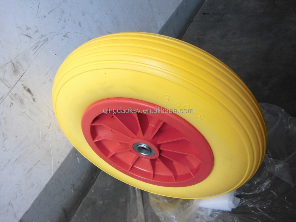 pu foam wheelbarrow wheel 3.50-4 3.50-8 4.00-6 4.00-8 for sale