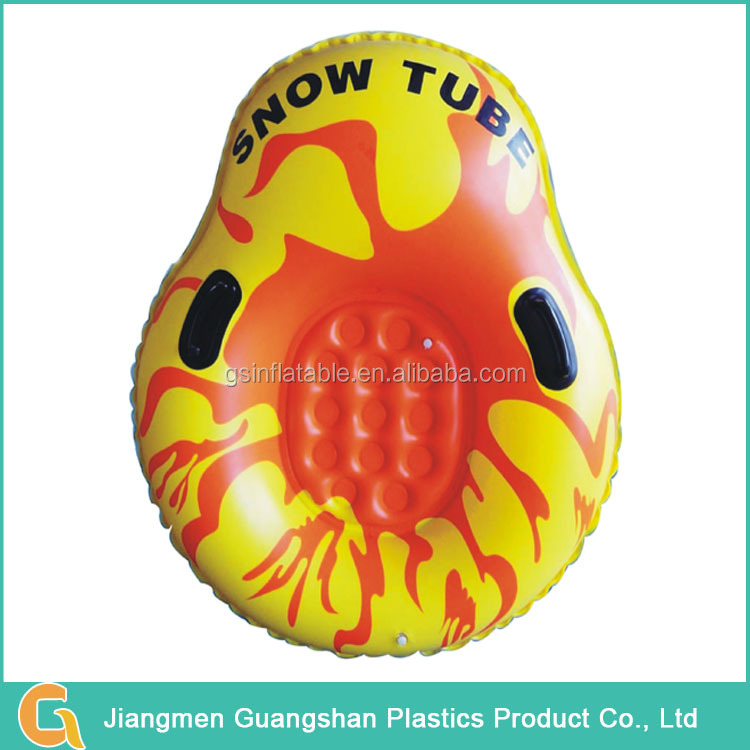 Popular fast inflatable durable PVC snow ski tube with handle